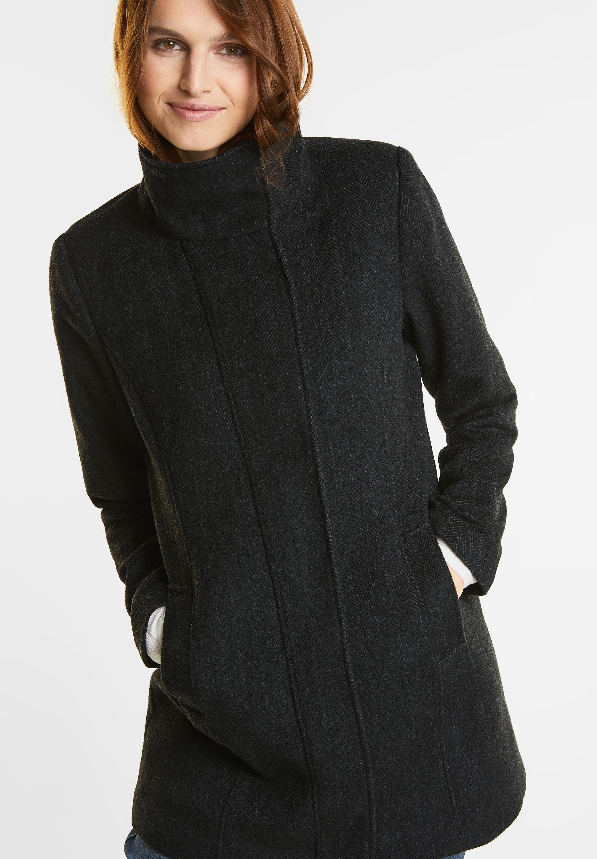 günstig kaufen große Auswahl überlegene Leistung Street One - Melange Wollmantel Serena in Black