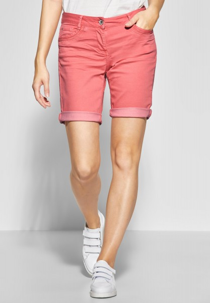 CECIL - Denim Shorts New York in Neo Coralline Red