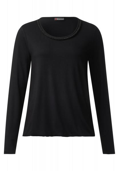 Street One - Shirt mit Perlenkante Jakoba Black