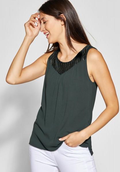 Street One - Shirt mit Spitze Tinka in Chilled Green