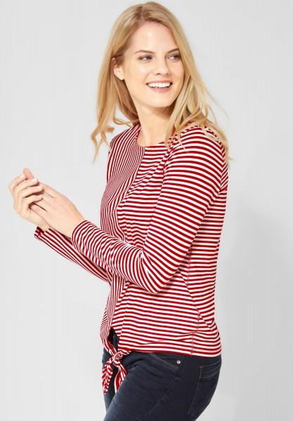 CECIL - Shirt mit Streifenmix in Tomato Red