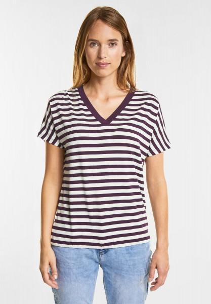 Street One Feminines Shirt Ilka in Mystique Berry
