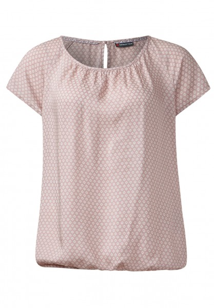 Street One - Minimalprint Bluse Felia Shadow Rose