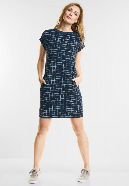 CECIL - Sportives Print Kleid in Deep Blue
