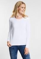 CECIL - Organic Baumwoll Shirt Pia in White