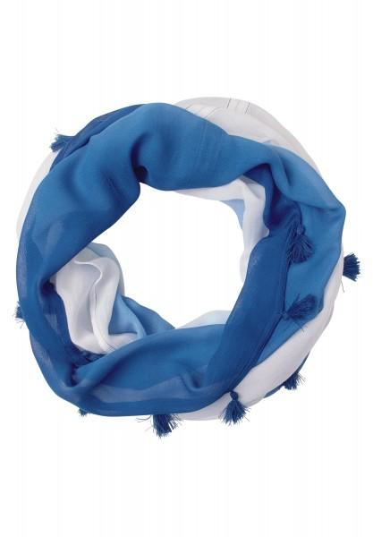 CECIL - Farbverlauf Loop mit Quasten in Cobalt Blue