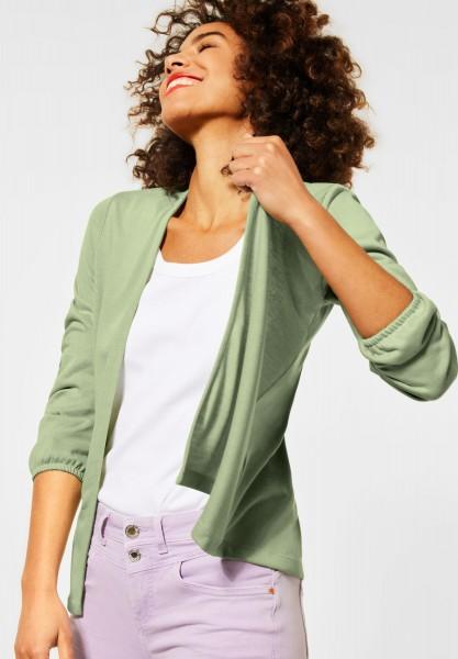 Street One - Verschlusslose Shirt Jacke in Faded Green