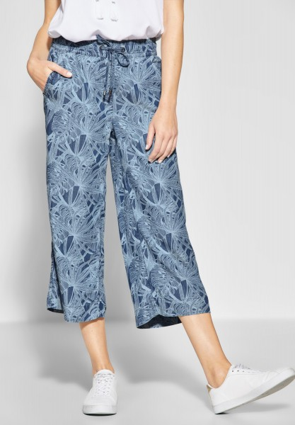 CECIL - Palmenprint Culotte in Printed Flower Used Wash