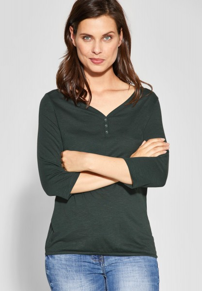 CECIL - Basic-Shirt Annika in Slate Green