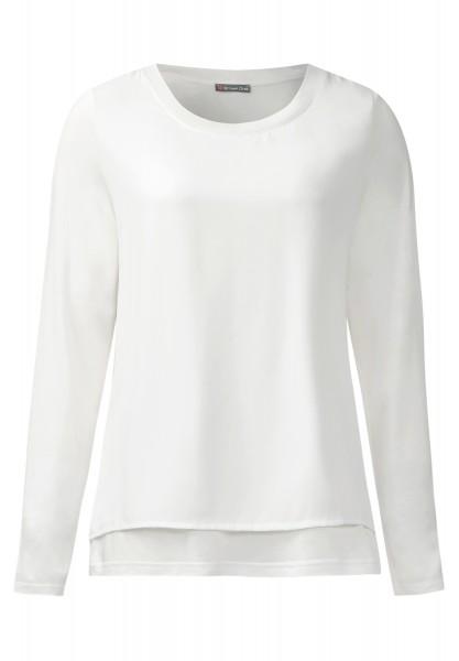 Street One - Shirt mit Chiffonlayer Ika Off White