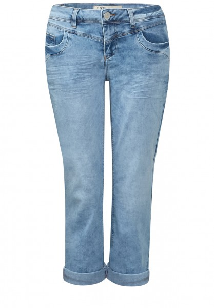 Street One - Washed-Look 3/4-Denim Kate Light Blue