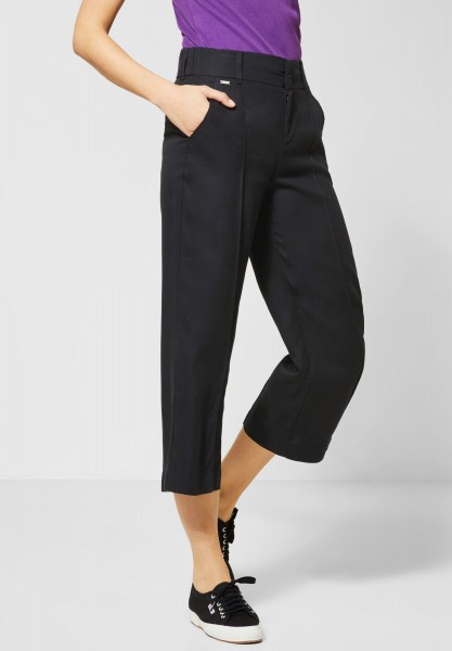 Street One - Wide Leg Hose Emee in Black