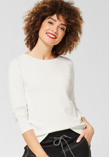 Street One - Shirt mit Raglan Ärmeln in Off White