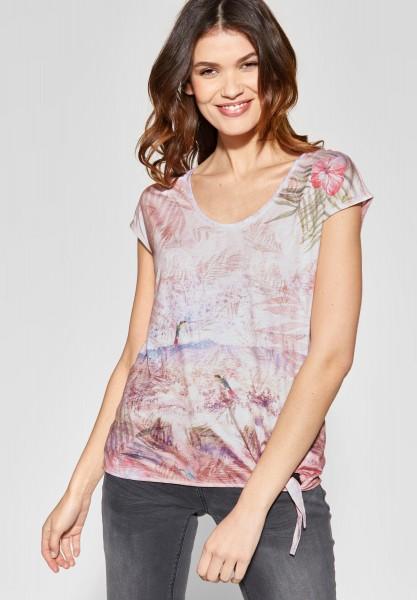 Street One - Fotoprint Shirt mit Knoten in True Rose