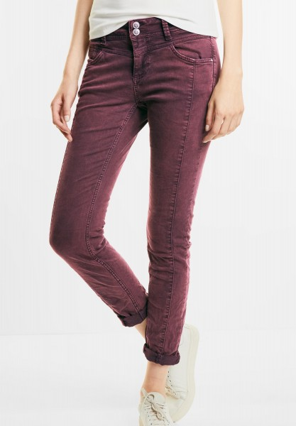 Street One - Loose Fit Coloured Denim Rob in Master Wine Authentic wash