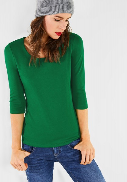 Street One - Schmales Basic Shirt Pania in Jolly Green