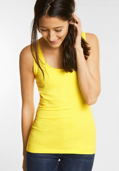 Street One - Organic Rundhalstop Bethy in Canary Yellow