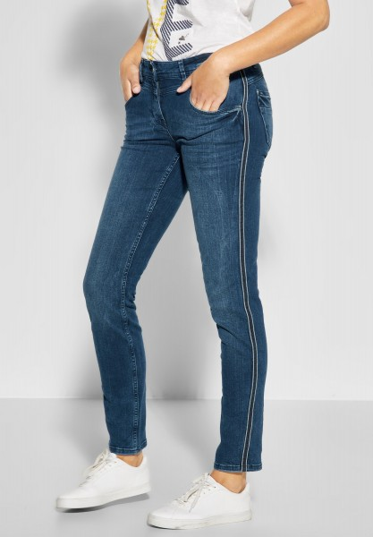 CECIL - Denim mit Galon Charlize in Mid Blue Wash