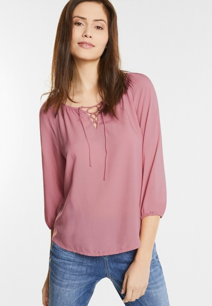 Street One - Bluse mit Schnürung Orli in Blooming Rose