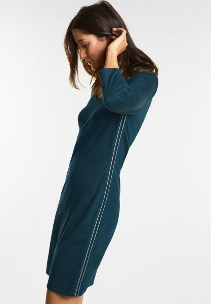 Street One - Kleid mit Glitzer-Detail in Deep Ivy