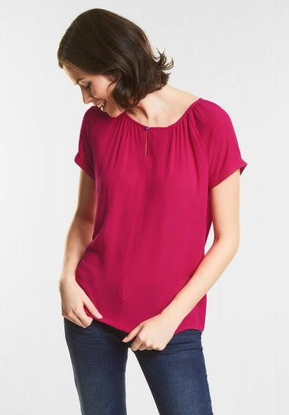 Street One Mat-Mix Carmen Shirt in Carribean Pink
