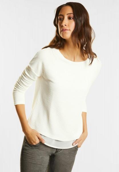 Street One - Lagenlook Struktur Shirt in Off White
