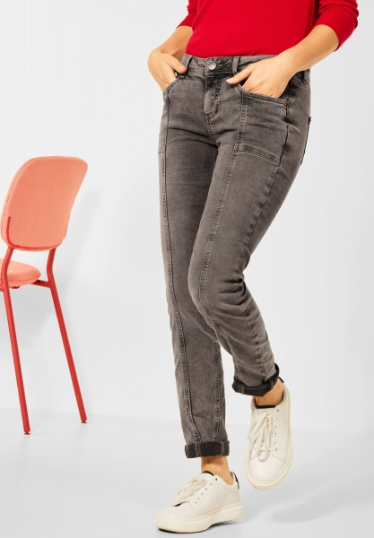 Street One - Casual Fit Denim in Heavy Wash Mocca