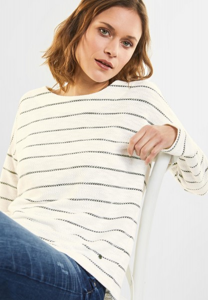CECIL - Sweatshirt mit Streifen in Black