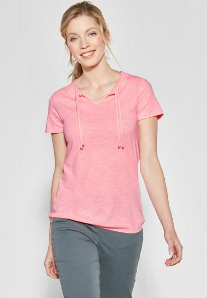 CECIL - Lässiges Tunika Shirt in Neon Apricot