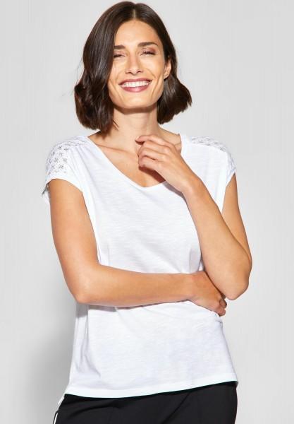 Street One - Lockeres Spitzen Shirt Tiara in White