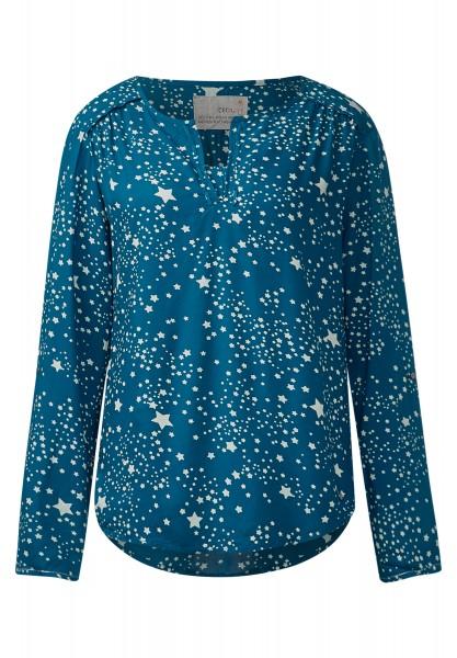 CECIL - Starprint-Viskosebluse Celestial Blue