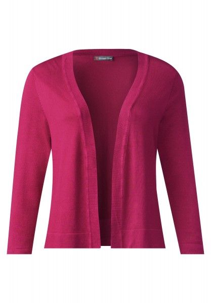 Street One - Offener Cardigan Ava in Passion Pink