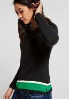 Street One - Shirt mit Farbdetails in Black