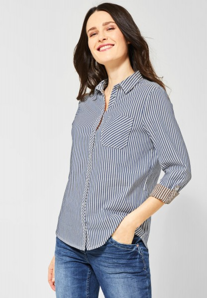 CECIL - Bluse in Doubleface-Optik in Blouse Blue