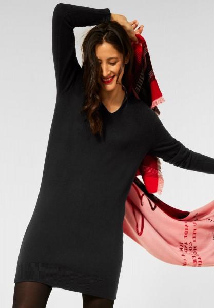 Street One - Hoodie Kleid mit Kapuze in Black