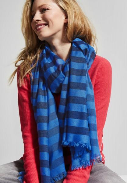 CECIL - Streifen Schal in Deep Blue