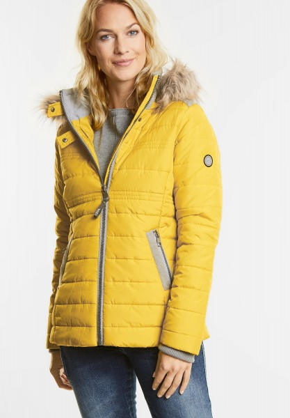 CECIL - Wetterfeste Materialmixjacke in Gold Sulphur Yellow