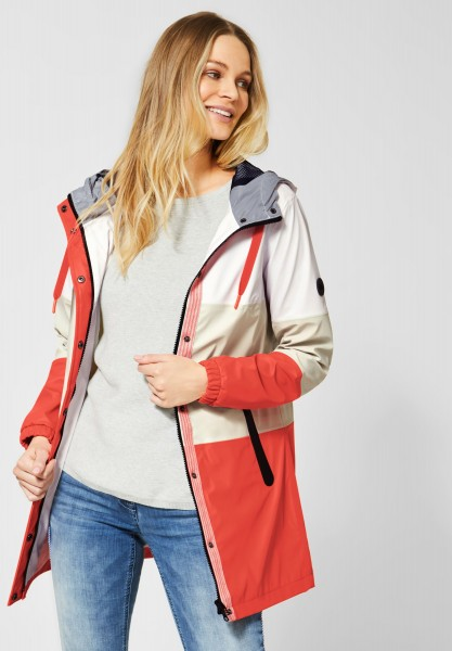 CECIL - Regenjacke mit Colourblock in Cool Orange