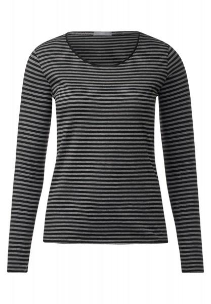 CECIL - Weiches Streifenshirt Lucy Black