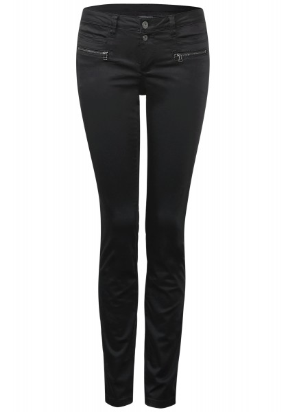 Street One - Slim Hose mit Zipper Yulius Black