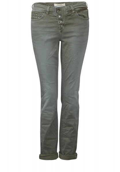 Street One - Colour Denim Mika Dusty Olive Mika Wash