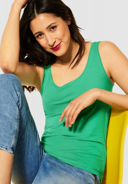 Street One - Basic Top Anni in Yucca Green