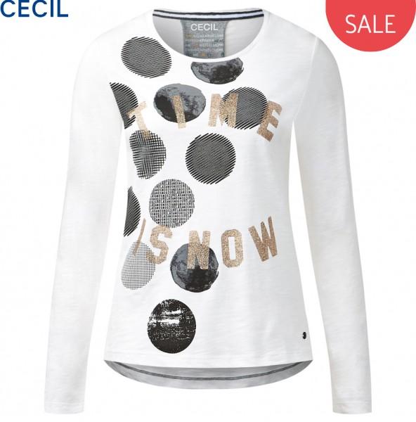 CECIL - Langarmshirt mit Frontprint
