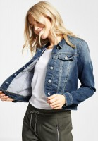 Street One - Denim-Style Jacke Roxana in Mid Blue Washed