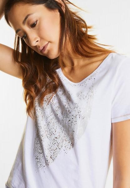 Street One - Shirt mit Folienprint in White