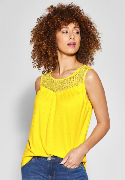 Street One - Top mit Spitze in Sunshine Yellow