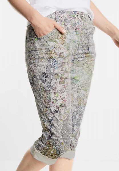 CECIL - Ornament Print Hose New York in Greige