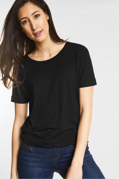 Street One Weiches Shirt Gunja in Black