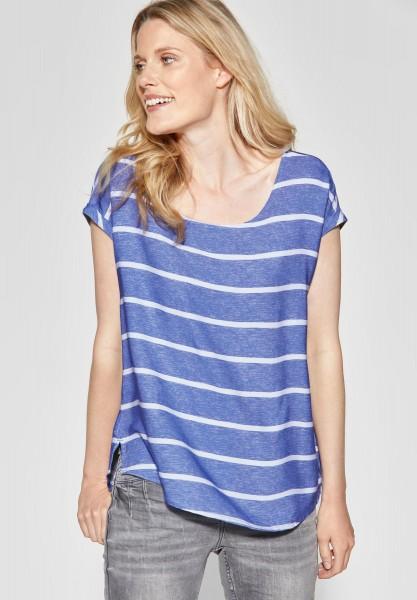 CECIL - Melange Streifen Shirt in Blouse Blue