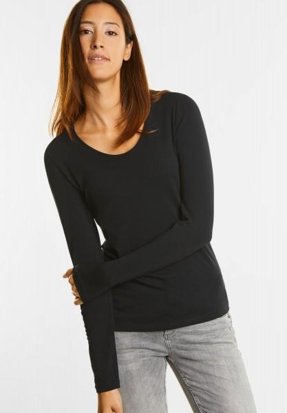 Street One - Organic Langarmshirt Uta in Black